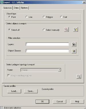export shp autocad map zibila 3d