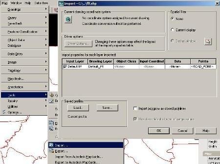 import shp autocad-ekin