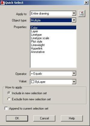 2010 qselect autocad