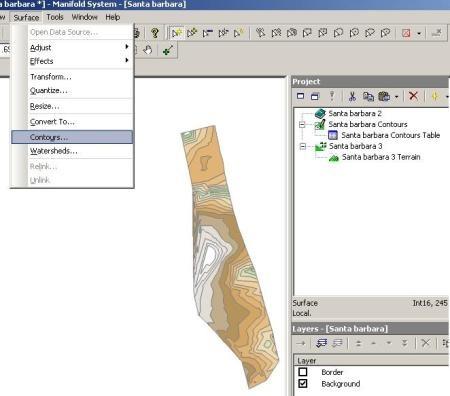 მანიფოლური GIS dtm2