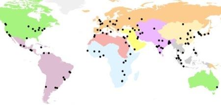 мап-девет светских регија-КСНУМКС