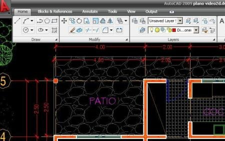 ribbon autocad 2009