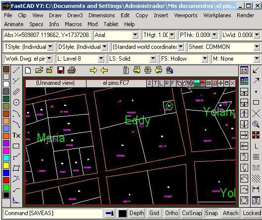 FastCAD, a shadow of AutoCAD - Geofumadas