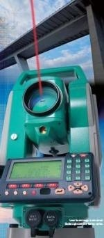 Estaciontotalsokkiark Testing the Total Station Sokkia SET 630RK