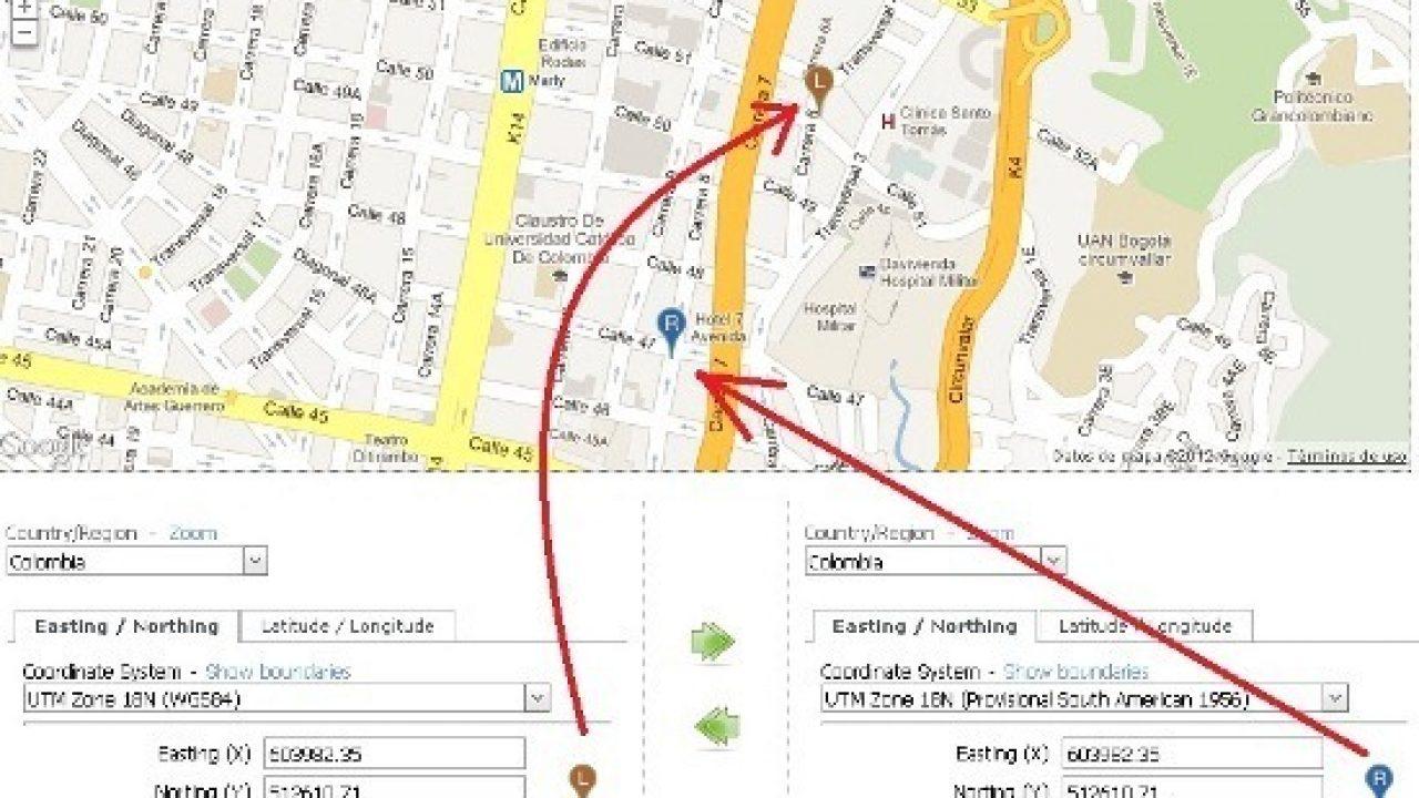 Ver coordenadas UTM en Google Maps, y usando ¡CUALQUIER