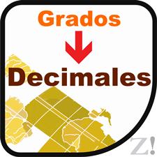 Convertor degrees to decimal coordinates