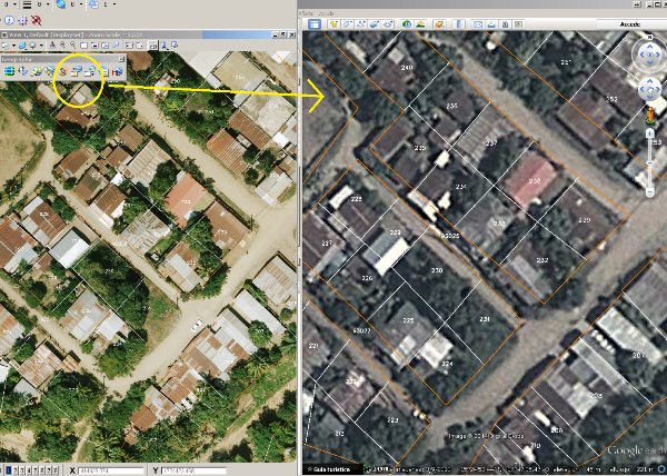conecdtar google earth con cad