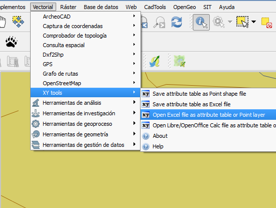 lat long QGIS excel