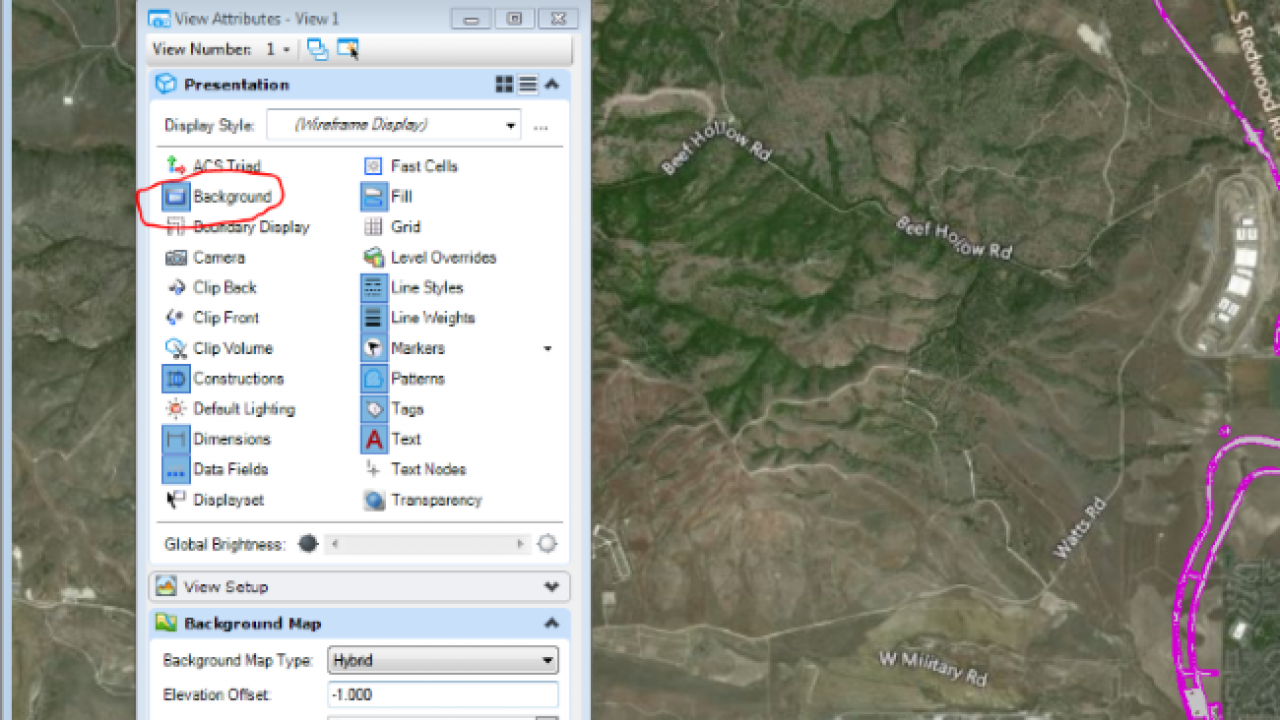 Place Bing Map as a background map in Microstation - Geofumadas