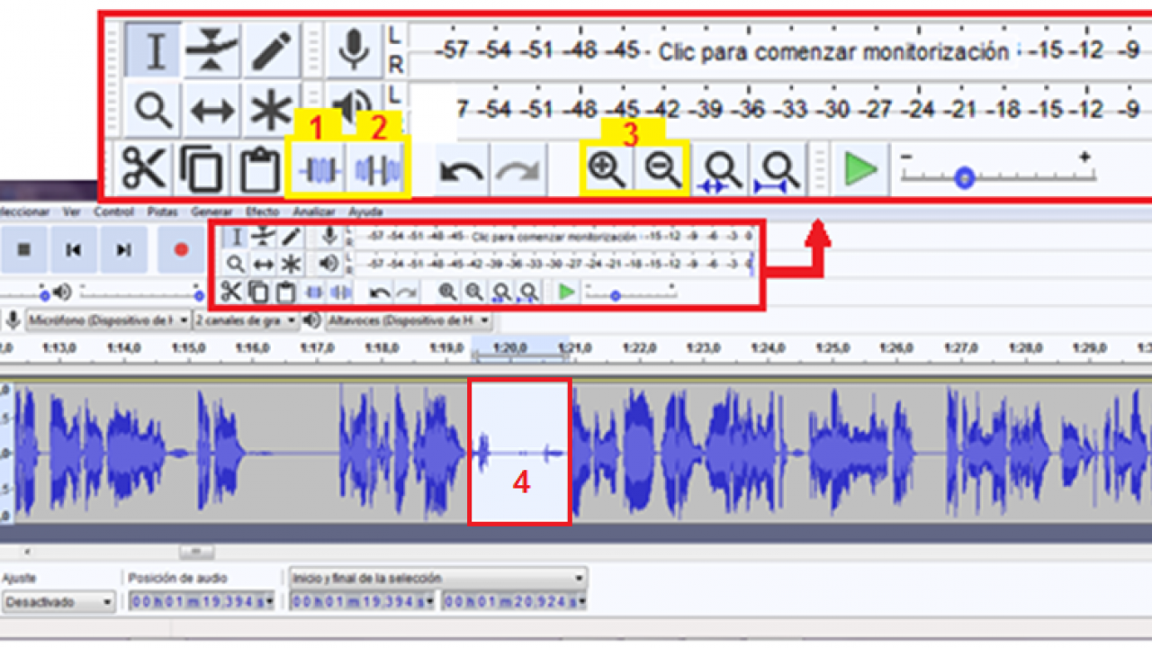 Audio and video editing with Screencast-o-matic and Audacity  - Geofumed