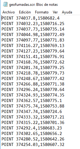 Draw points, lines and texts of a polygonal from Excel to